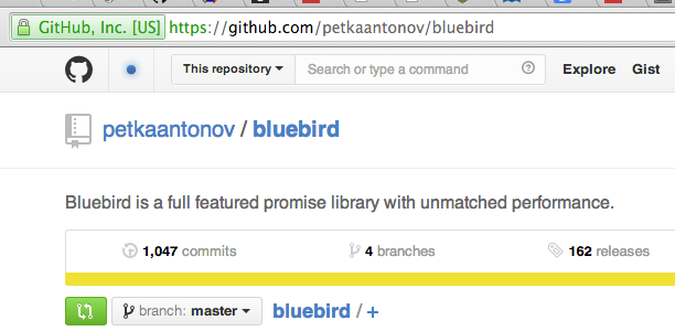 Promisify Javascript Events with Bluebird